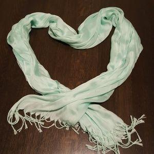 Seafoam green scarf
